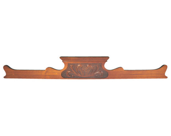 Antique Mahogany Carved Backsplash - This is an antique mahogany backsplash for a side board or server. The detailed scrolled sides and a hand carved design in the middle make this piece stand out in your home.