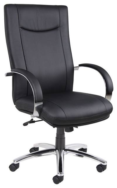 Aaria Elektra High Back Executive Chair - Black Upholstery contemporary-office-chairs