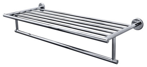"""Gatco 4247 Chrome Latitude 2 26"""" Towel Rack with Towel Bar from the contemporary-towel-racks-and-stands"""