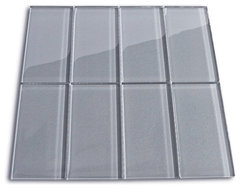 Ice Glass Subway Tile modern-tile