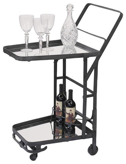 GO Home Ltd British Isle Uptown Bar Cart contemporary-bar-carts