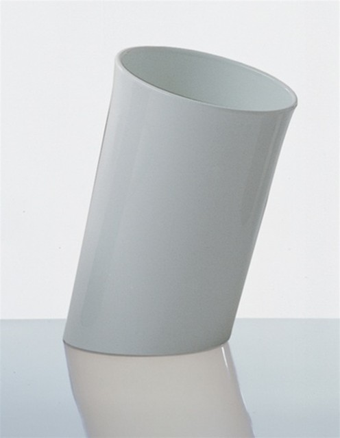 Danese Milano In Attesa Wastepaper Basket - White modern waste baskets