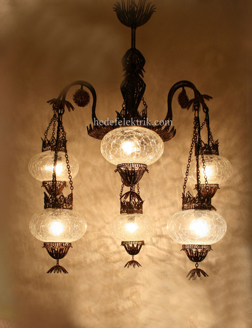 Turkish style ottoman lighting mediterranean for Mediterranean lighting fixtures
