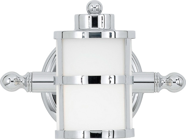 Coastal Style Vanity Lights : Quoizel TB8601C Tranquil Bay 1 Light Bathroom Vanity Lights in Polished Chrome - Beach Style ...