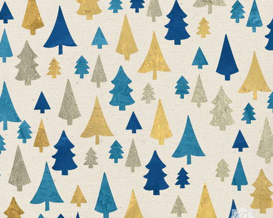Pine Forest Christmas Stencil -