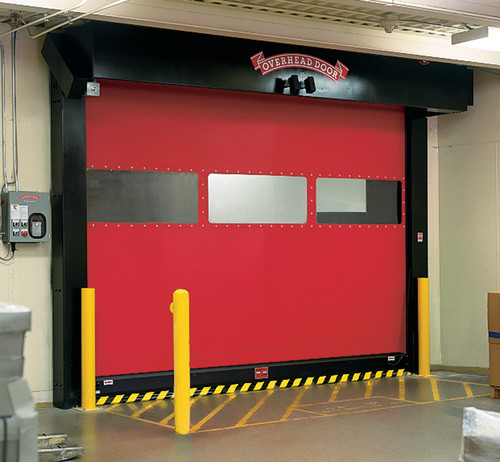Commercial garage doors with company personality.