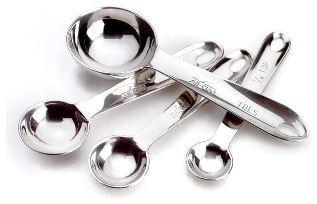 All-Clad Stainless Steel Measuring Spoon Set contemporary-measuring-spoons