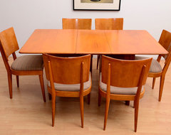 Heywood Wakefield Dining Table and Set of 6 Dining Chairs by AMBIANIC modern-dining-tables