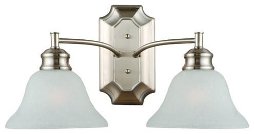 Bristol Satin Nickel Two-Light Bath Fixture modern-bathroom-vanity-lighting