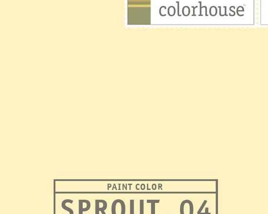 Colorhouse SPROUT .04 - Colorhouse SPROUT .04:  Cheery without being too bright, Sprout .04 is a light hue that's inspired by morning kisses from the sun.  Colorhouse interior paints contain no VOCs, no toxic fumes/HAPs-free, no reproductive toxins and no chemical solvents.