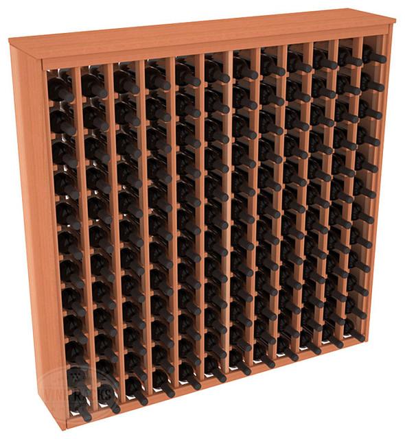 144 Bottle Deluxe Wine Rack in Redwood contemporary-wine-racks