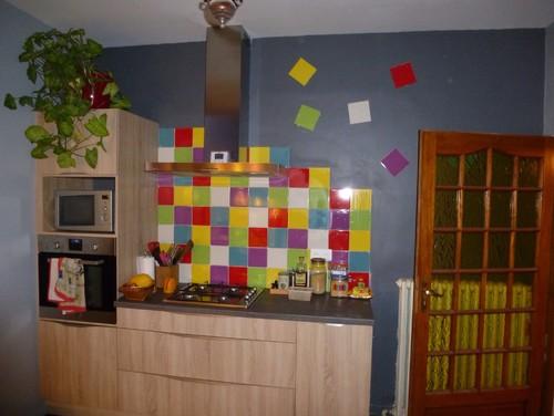 faience multicolore cuisine multicolores pour crer une cuisine - Faience Multicolore Cuisine