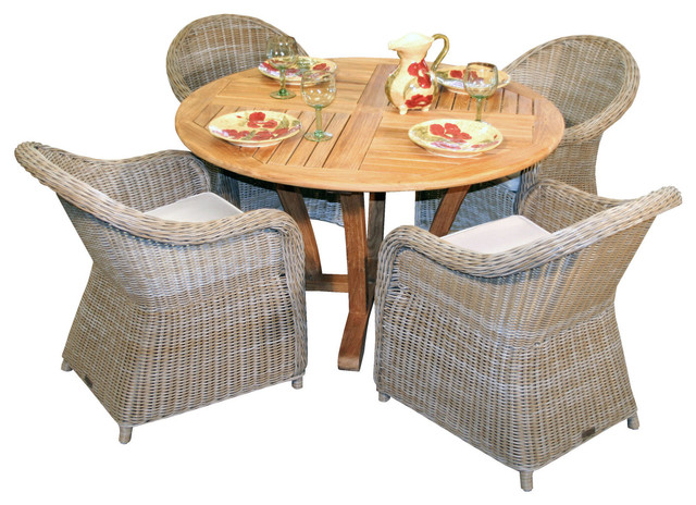 Cayman Dining Set Traditional Outdoor Dining Tables by Atlantic Patio F