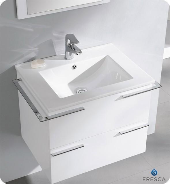 "Fresca Cielo White 24"" Modern Bathroom Vanity"