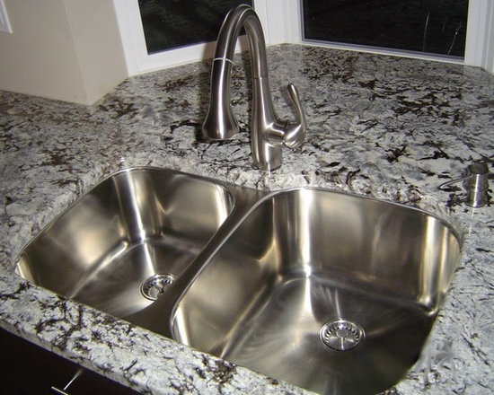 Classic Undermount Kitchen Sink (60-40 Large Bowl) - UltraClean Undermount Kitchen Sinks  by Create Good have a seamless, perfectly formed drain. This UltraClean Double Bowl Sink is perfect for families desiring the highest sanitary standards all the way to the drain.