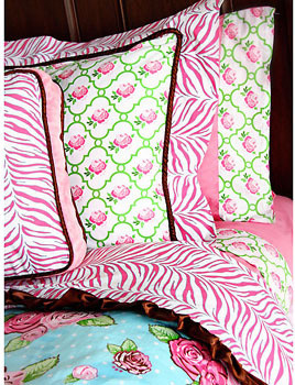 Caden Lane Boutique Pink Duvet contemporary kids bedding