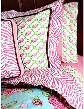 Caden Lane Boutique Pink Duvet contemporary-kids-bedding