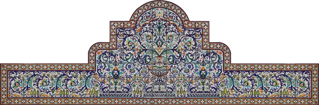 Tiles for Swimming Pools, Fountains, Patios and Stairways mediterranean-tile