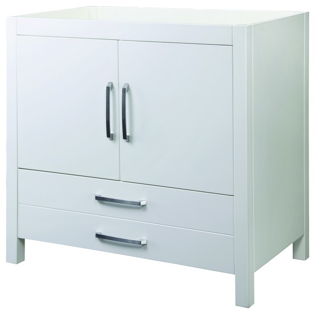 Decolav 5223 WHT Cameron Vanity Without Top In White Traditional Bathroom