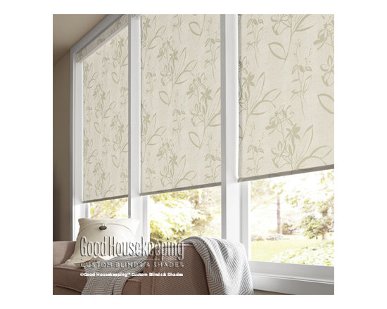 Good Housekeeping - Good Housekeeping Roller Shades: Exclusive Solids & Patterns Light Filtering - Create a style that's all your own with the new line of Good Housekeeping roller shades.  This collection features colors and patterns only available through Good Housekeeping Blinds and Shades.  Backed by the Good Housekeeping Seal, these roller shades will provide years of reliable service with modern styling.