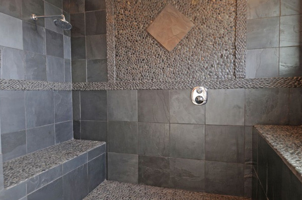 Perfect Get Idea Slate Bathroom Tile  Master Bathroom Ideas  18853