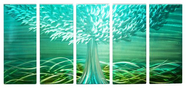Metal Tree Wall Art Gallery: Metal Wall Art Abstract Landscape Contemporary Handmade