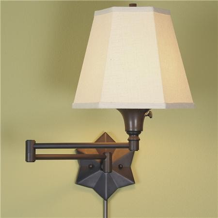 Lamp Shades Wall Lamps : Star Swing Arm Wall Lamp, Three Colors - Traditional - Swing Arm Wall Lamps - by Shades of Light