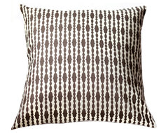 Modern Organic Pillow - Raindrops Chocolate contemporary-pillows