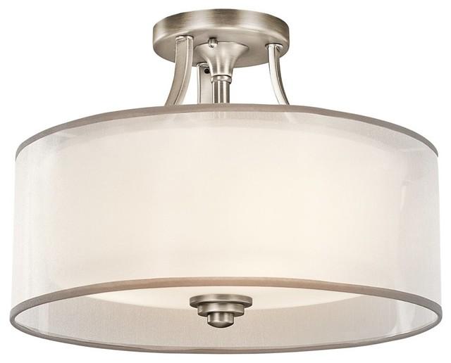 Kichler Lacey Transitional Semi Flush Mount Ceiling Light Contemporary Fl