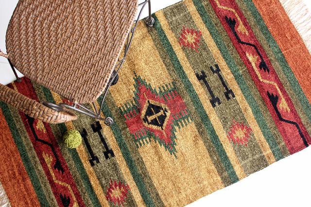3'x5' Handmade Traditional Kilim Rug, Style: Rangoli traditional-rugs