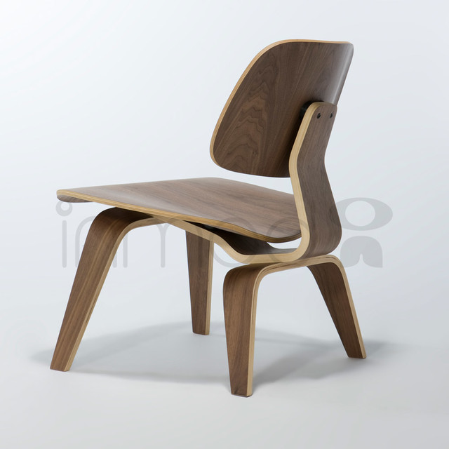 Plywood Lounge Chair with Wood Legs modern-dining-chairs