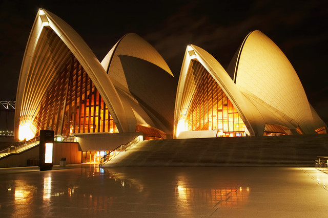 Sydney Opera House At Night Wall Art Contemporary