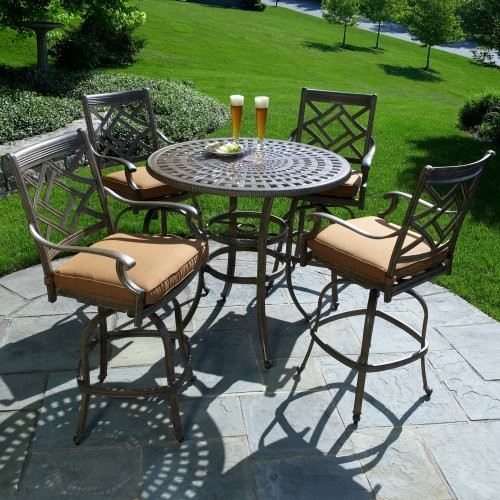 Alfresco Home Sarasota Bar Height Dining Set Contemporary Patio Furniture