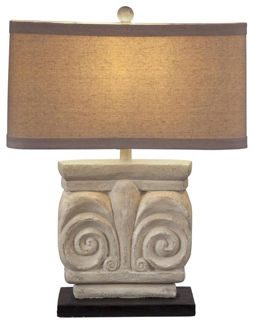 Parthenon Stone Texture Table Lamp traditional-table-lamps