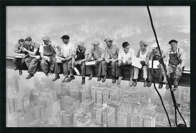 Lunch on a Skyscraper, 1932 Framed with Gel Coated Finish by Charles C. Ebbets traditional-prints-and-posters