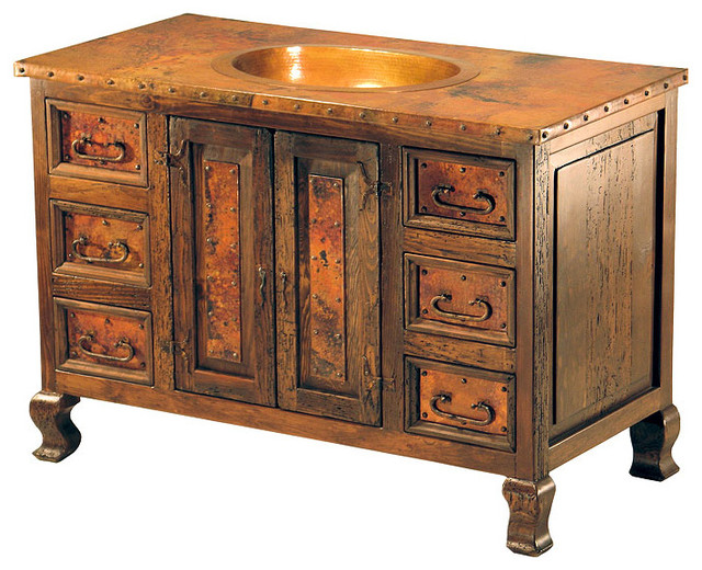 Rustic Bathroom Sinks : ... Rustic Bathroom Vanities With Copper Sinks with Rustic Cedar Bathroom