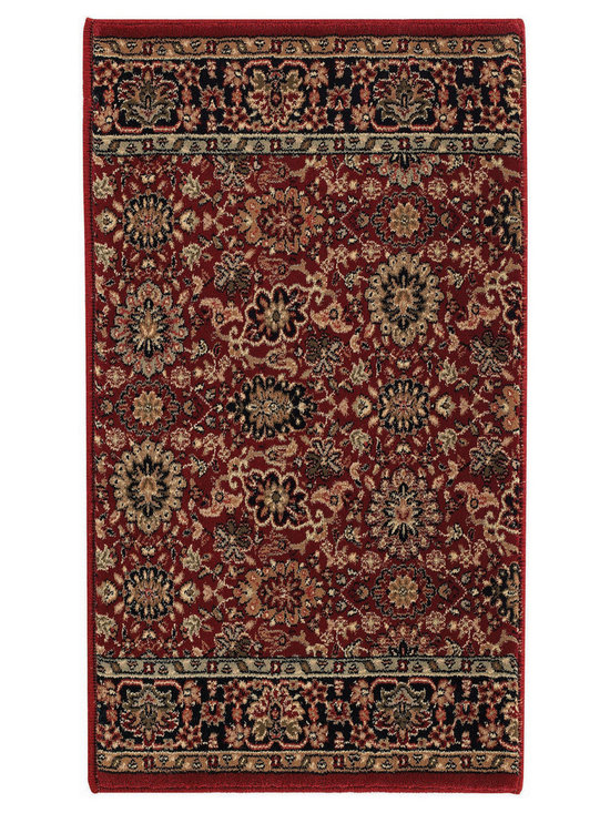 Estates Herati runner roll rug in Garnet - Imported from one of the finest mills in Europe, this beautiful collection of runner rugs is created on precision Wilton machine looms of the finest 100% Olefin yarn.