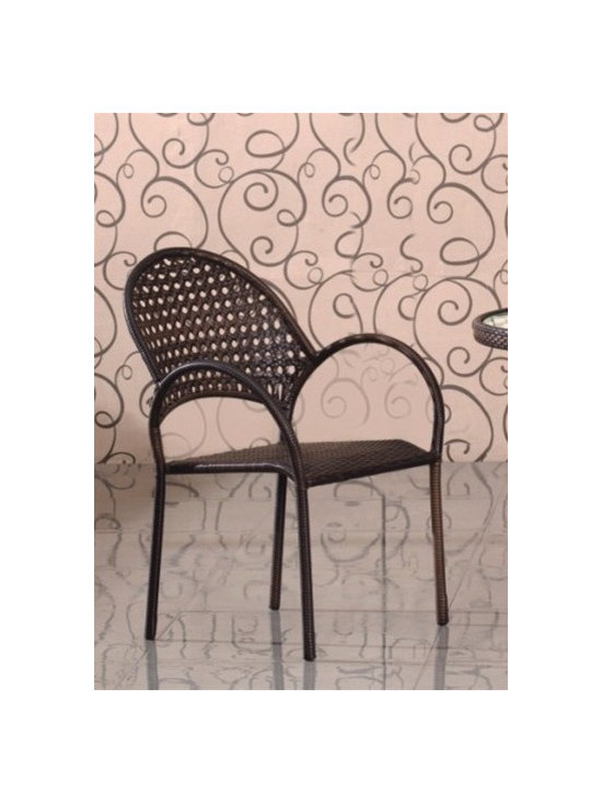 Rattan Patio Chair 431-SO - This rattan patio dining chair will instantly enhance any indoor or outdoor decor.