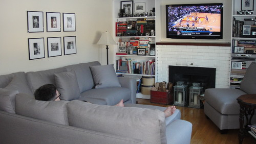New Gray Couch Looks Too Purple
