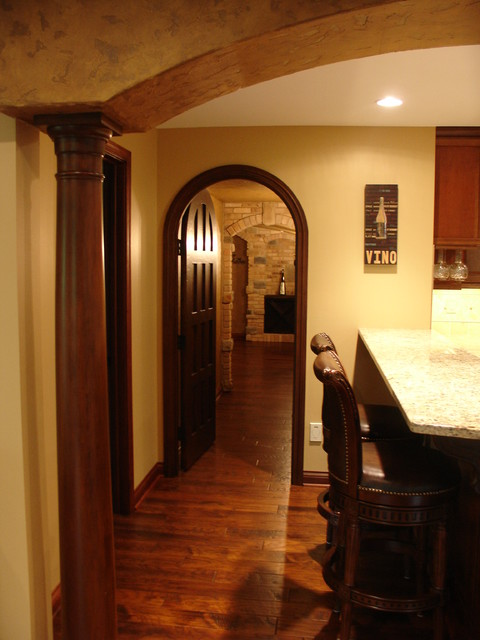 Tuscan Basement mediterranean wine cellar