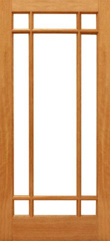 9-Marginal French Brazilian Mahogany IG Glass Single Door traditional-patio-doors