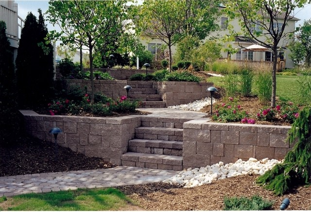 Landscaping Ideas For Backyard With Retaining Wall : landscape plus llc landscape architects landscape designers