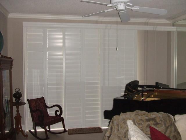 Plantation Shutters for Sliding Glass Door - Traditional - houston ...