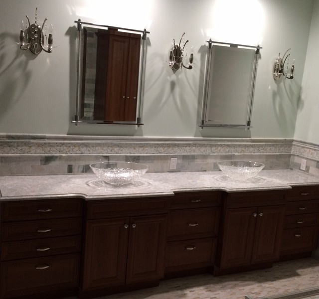 Thermofoil Vanity With Cambria Montgomery Countertop