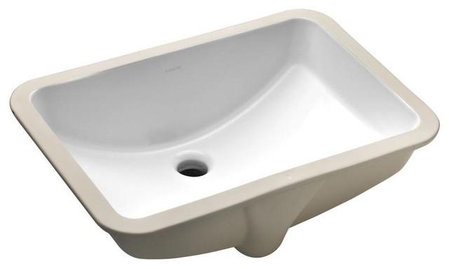 Kohler Ladena Sink : KOHLER Bathroom Ladena Undermount Bathroom Sink with Overflow in White ...