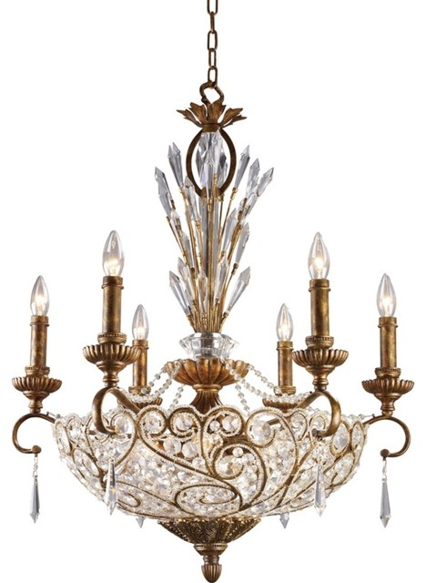 Trump Home Segovia Collection 12-Light Bowl Chandelier traditional-chandeliers