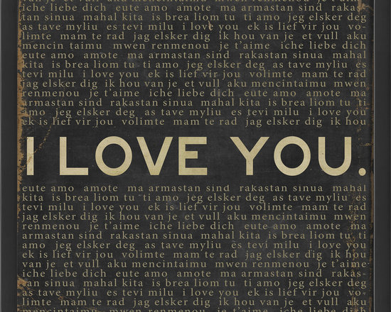 The Artwork Factory - 'I Love You' Print - The language of love … you really don't have to read between the lines to catch the drift of this print. Framed and ready to hang, this graphic statement is printed on high resolution, fade-resistant paper so it will speak clearly to you, time after time.