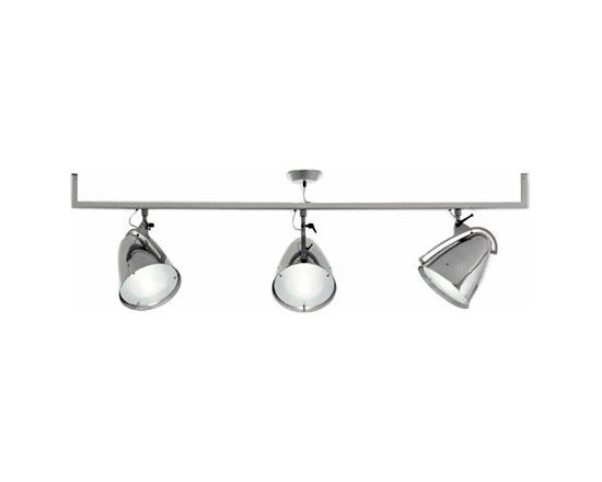 FARO TRACK LAMP BY PALLUCCO LIGHTING - Faro Track by Pallucco is part of the Faro collection a range of lights that feature enlarged dimensions of a spotlight.