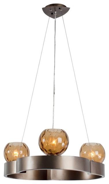 Varaluz Covenant 3-Light Chandelier - 20.75W in. New Bronze modern-chandeliers