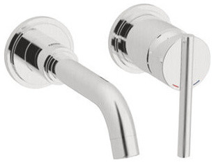 Grohe 19291EN1 Brushed Nickel Atrio Atrio Wall Mounted Bathroom Faucet contemporary-bathroom-faucets-and-showerheads